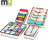MIU COLOR® Drawer Dividers Closet Organisers Bra Underwear Storage Boxes 4 Set