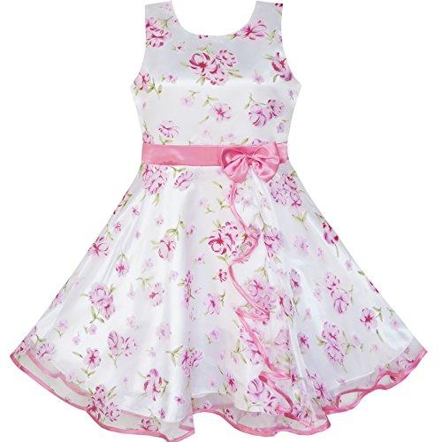 best service de5bb 022e5 Vestito Bambina 3 Livelli Rosa Fiore Onda Pageant Nozze Bambini Capi di  Abbigliamento 11-12 Anni