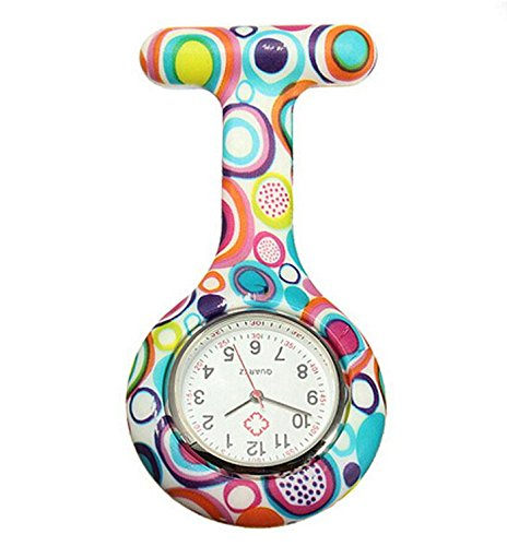 Boolavard-TM-Nurses-Fashion-Coloured-Patterned-Silicon-Rubber-Fob-Watches-Colourful-Bubbles