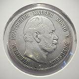 orig. Silbermünze 5 Mark 1876 C Preußen Wilhelm I - Jäger Nr. 97 - Münze Deutsches Reich / Kaiserreich
