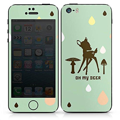 Apple iPhone SE Case Skin Sticker aus Vinyl-Folie Aufkleber Oh my Deer Bambi Reh DesignSkins® glänzend