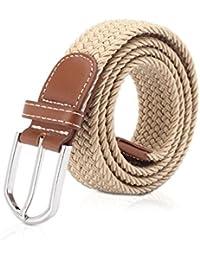 MinYuocom PD12 Série unisexe ceinture tressé avec boucle ardillon sangle en  Couleurs Variées ... e0deb7b4db3