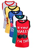 Goodway Junior Boys Attitude Printed Vest T-Shirts Theme-3 Pack of 5 (JB5PCK-VEST-ATT-3-COL-2/3Yrs_Multicolour_2-3 Yrs)