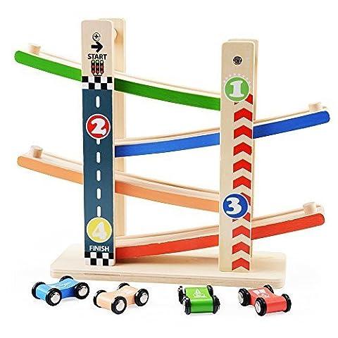 Rolimate des jeux de courses avec 4 vitesse des voitures, early educational et amusant et jouets pour 2 ans (1)