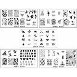 b.m.c Set 2 - Great Outdoors: BMC Cute 5pc Work It! Sports Themed Nail Polish Art Stamping Stainless Steel XL Plates Set 2: Great Outdoors