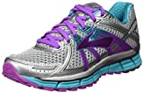 Brooks Women's Adrenaline Gts 17 Running Shoes, Silver (Silver/purple Cactus Flower/bluebird) – 6.5 UK