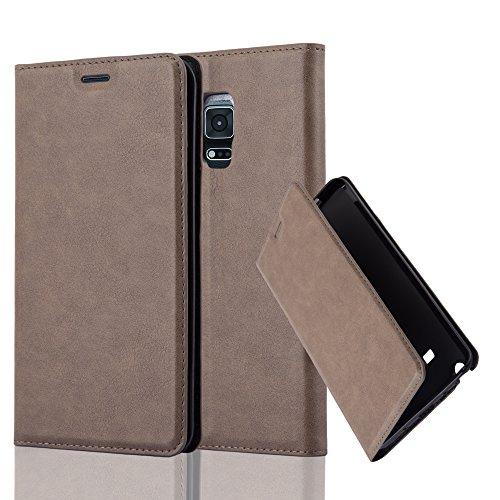 Cadorabo Hülle für Samsung Galaxy Note Edge - Hülle in Kaffee BRAUN – Handyhülle mit Magnetverschluss, Standfunktion und Kartenfach - Case Cover Schutzhülle Etui Tasche Book Klapp Style