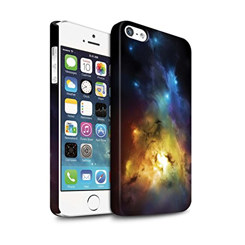 Offiziell Chris Cold Hülle / Matte Snap-On Case für Apple iPhone SE / Pack 12pcs Muster / Fremden Welt Kosmos Kollektion Arcularius Nebel