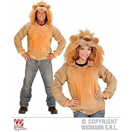 Erwachsenen-kapuzenjacke (Niedliche Jacke / Sweatjacke / Kapuzenjacke / Tierkostüm als Löwe / Lion / Löwenkostüm mit Kapuze Gr. L / XL)