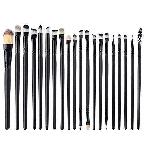 yyy123 Beauty Tools Set De Pinceaux pour Les Yeux 20 Set De Pinceaux pour Le Maquillage des Yeux Noirs