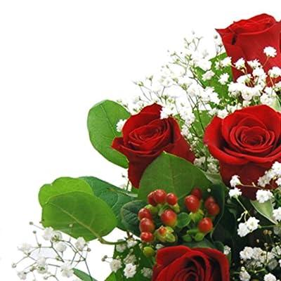 Clare Florist Valentines Flowers Heartfelt Red Roses Bouquet (6-Piece)
