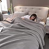 DULPLAY Coton Solid Color Couverture, pour Les Enfants ou Adultes Premium Coton Lourds Lève Couverture Grand Tour de Bureau de Lits-B 210x240cm(83x94inch)