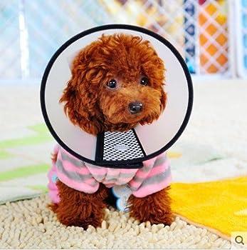 5ivepets Elizabeth Collier de cicatrisation pour animaux Collier anti-morsures pour chien/chat/animal domestique, disponible en 7 tailles