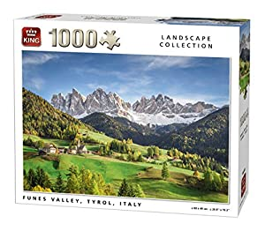 King 5708 Funes Valley - Puzzle de 1000 Piezas, 68 x 49 cm