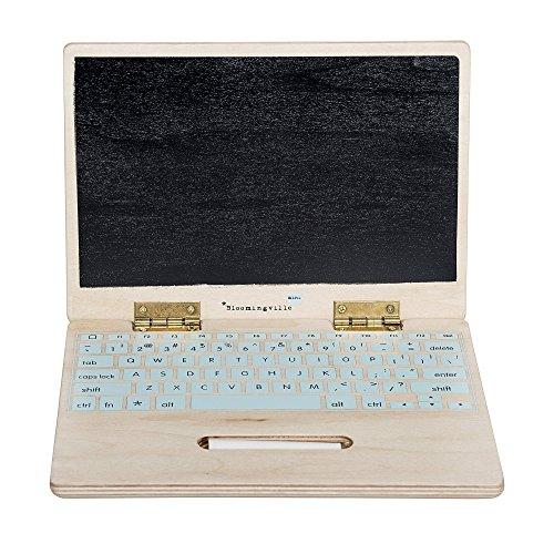Preisvergleich Produktbild Bloomingville Spielzeug Holz-Computer Holz-Laptop mit Kreidetafel und Kreide