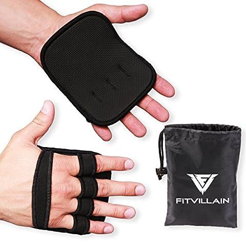 FITVILLAIN Neopren Griffpolster zum Gewichtheben - Handflächen-Schutz - Geeignet für