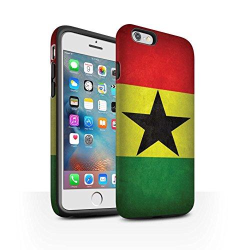 STUFF4 Matte Harten Stoßfest Hülle / Case für Apple iPhone 6 / Albanien/Albanisch Muster / Flagge Kollektion Ghana/Ghanaischen