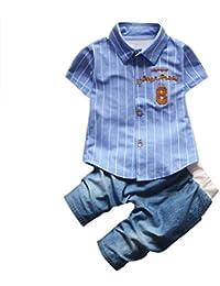 GOTTING Kid Boy manga corta del polo del vaquero camiseta de la camisa de los pantalones vaqueros de la ropa del juego Equipos Azul… 7FdblSHC