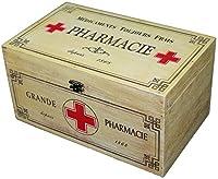 In legno, stile shabby chic, medicina Storage Box mantenere il suo primo soccorso Essentials ordinata e organizzata in questo elegante medicina. Realizzato in legno con un design e stile francese. Questa scatola ha un fermaglio per chiusura sicura. D...