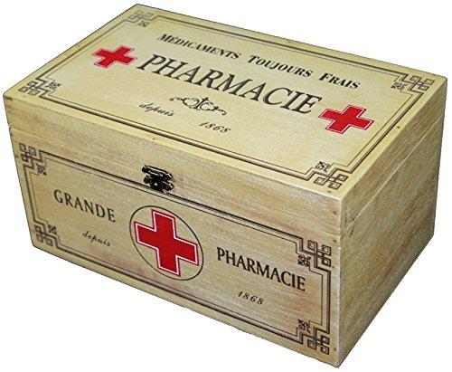 Holz Medizin Aufbewahrungsbox Erste Hilfe Shabby Vintage Pharmacie Badezimmer Küche