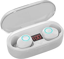 Bluetooth Kopfhörer Kinym kabellose Kopfhörer True Wireless kopfhörer Wasserfest Wireless Earbuds Bluetooth in Ear ohrhörer kabelloses Stereoheadset mit Mikrofon für Android, mit Ladekästche (Weiß)