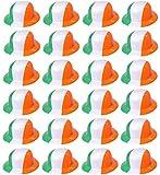 ILOVEFANCYDRESS Plastik MELONEN Hut IN DEN IRISCHEN NATIONAL Farben ERHALTBAR EINZELN ODER IN Verschiedenen STÜCKZAHLEN =SUPER FÜR Gruppen VEREINE UND EINZELHANDEL = 100 MELONEN
