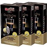 Caffè Molinari Espresso Kapseln ORO, geeignet für Nespresso-Maschinen, 3 x 10 Stück, 150 g