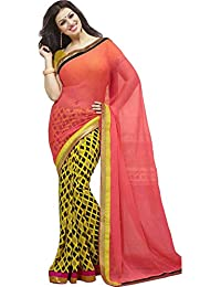Women's Latest Designer Casual Wear Fashionable Todays Lower Price Offer Multi-Colored Colored Georgette Saree...