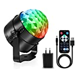 AOMEES Discokugel Party Disco Licht Musik Lichteffekt LED mit USB