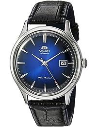Orient Bambino de los hombres de la versión 4'japonés automático reloj vestido de cuero y acero inoxidable, color: negro (modelo: fac08004d0)
