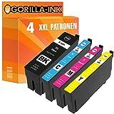 Gorilla Ink 4 Tinten-Patronen XXL GI35XL für Epson Workforce Pro WF 4720 DWF WF 4725 DWF WF 4730 DTWF WF 4735 DTWF WF 4740 DTWF