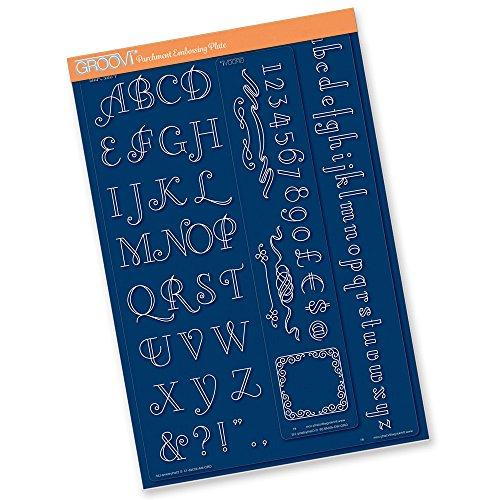 groovi Plaque Art Déco Mate (Alphabet) pour border Assiettes