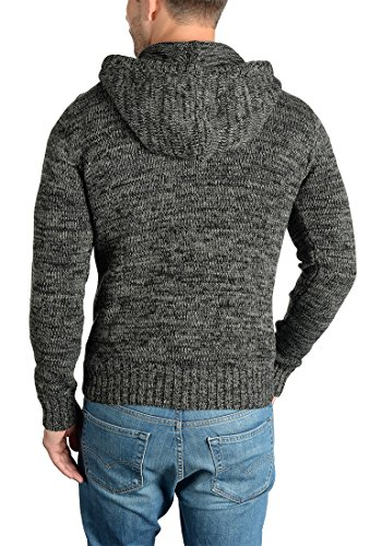 SOLID Philon Herren Strickpullover Strickhoodie Kapuzenpullover aus 100% Baumwolle Meliert Black (9000)