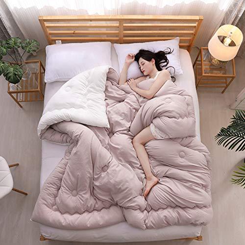 YU&AN Einfache Decke,Gewaschener Baumwolle Frühling Und Herbst Studenten Raum Dick Warme Weich Für Schlafsäle Schlafzimmer-B 220x240cm(87x94inch) - Daunendecke Queen-size-weiße