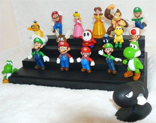 """18Pcs Set 1-3"""" Super Mario Bros Figure Toy Doll Pvc Figure Collectors By Sanlise 4"""