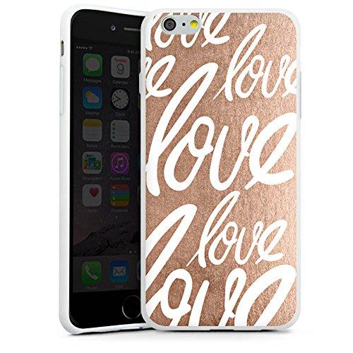 Apple iPhone X Silikon Hülle Case Schutzhülle Love Liebe Sprüche Silikon Case weiß