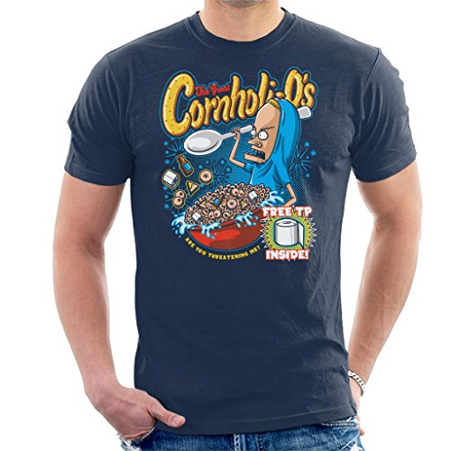 Cornholios Cereal Beavis and Butt Head Men's T-Shirt - Shirt Buu Majin