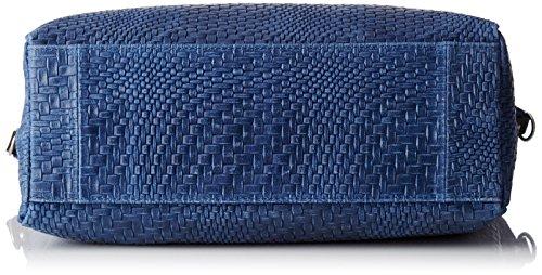 Chicca Borse Damen 80058 Umhängetasche, 36 x 36 x 13 cm Blau (Blu)