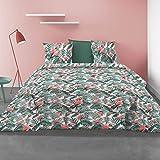 Les Ateliers du Linge - Housse de Couette 220 x 240 - Parure de lit - Parure de lit avec Housse de Couette, modèle Tropical...