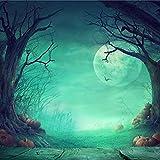 #3: LEDMOMO Photo Backdrop, Photography Backdrops Horror 3D Halloween Creepy Backdrop Photo Backdrop Cloth 150x200cm