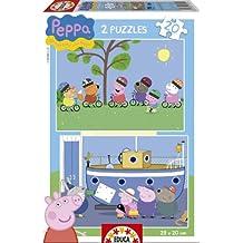 Puzzles Educa - Peppa Pig, 2 puzzles de 20 piezas (15919)