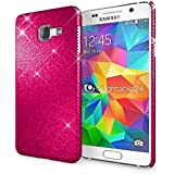 Samsung Galaxy A3 2016 Coque Protection de NICA, Ultra-Fine Glitter Housse Slim Hardcase Paillettes Phone Cover, Etui Rigide Strass Bumper Mince pour Telephone Portable Samsung A3 2016 - Pink Rose