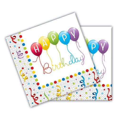 Procos Happy Birthday Papier Servietten