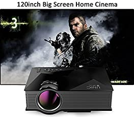 UNIC UC 46plus 1080P 800x480 Resolution WiFi LED Portable Projector