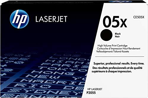 HP 05X Original Toner mit hoher Reichweite (geeignet für HP LaserJet P2055, HP LaserJet P2055d, HP LaserJet P2055dn) schwarz - Schwarz, Smart Druckkassette
