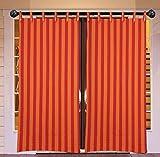 RED ORANGE STRIP LOOP Windew curtains se...