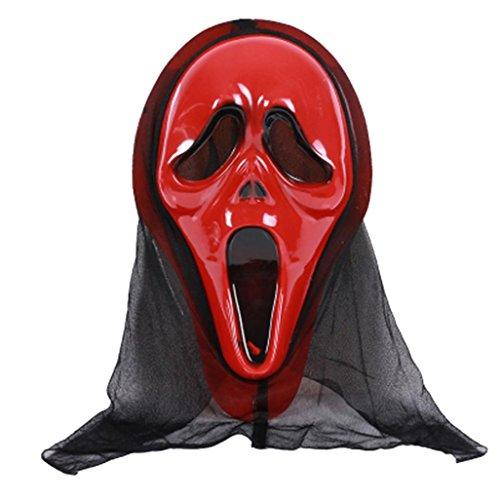 Halloween Maske, Gusspower Neuheit Halloween Party Cosplay Gummi Maske Horror Maske Grimasse (C)