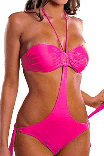 Costume da bagno Donna Trikini convertibile Bikini Viola