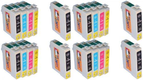 Toner Yellow Media (Start - 20 Ersatz Patronen kompatibel zu T0711, T0712, T0713, T0714 - Black - Cyan - Magenta - Yellow)