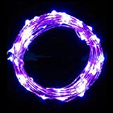 "CHshe String Fairy Lights, ""Light up the Light of the Night and Life"" 20 LED 2M Environment Friendly Energy Saving Hot Sale For Christmas Wedding Party (Purple)"